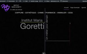 Maintenance Site Web mariagoretti.be